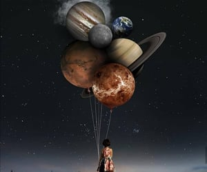 girl and planet image