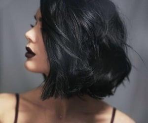 black, hair, and شعر image