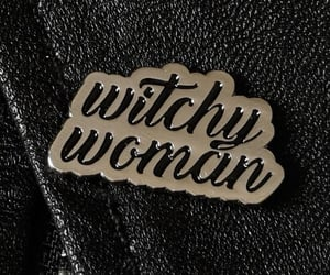 witch, black, and pins image