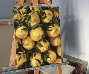 art, yellow, and lemon image