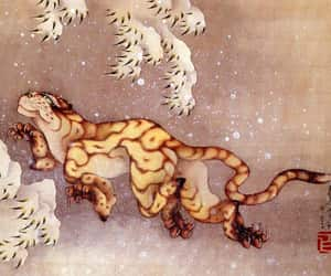 art, hokusai, and japan image