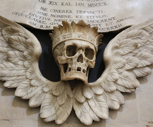 crown, skull, and wings image