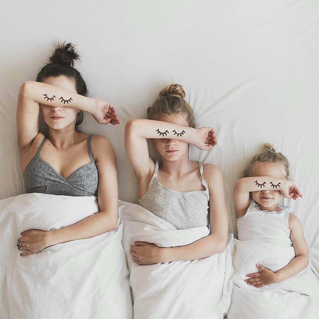 family, girl, and sleep image