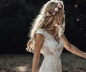 wedding, bridal, and dress image