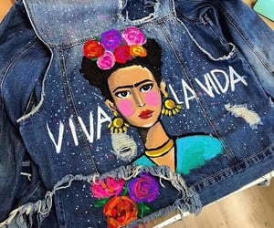 denim, frida kahlo, and moda image