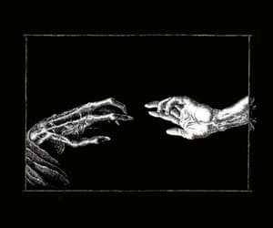 black, death, and hands image