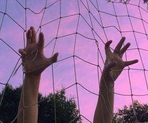 pink, sky, and grunge image