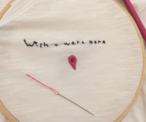 embroidery, M, and mine image