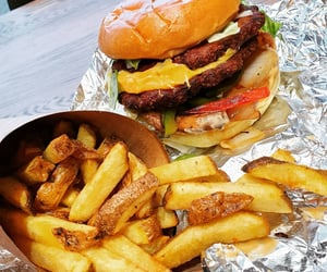 burger, cheeseburger, and chips image