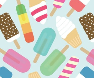 background, ice cream, and pastel image