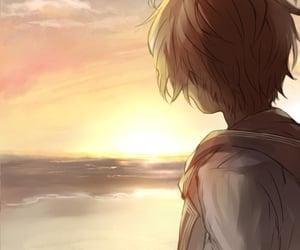anime, boy, and brown image