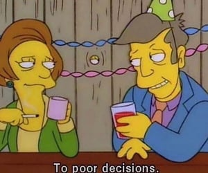 aesthetic, decision, and the simpsons image