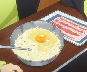 anime, bacon, and pastel food image