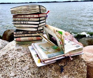 books, diary, and journal image