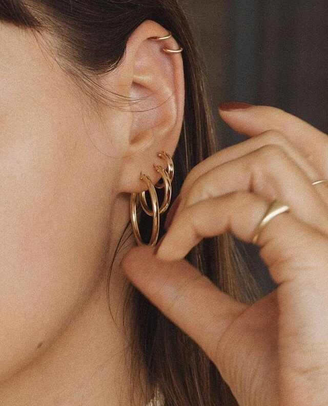 gold, accessories, and earings image