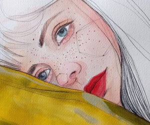 drawing, girl, and painting image