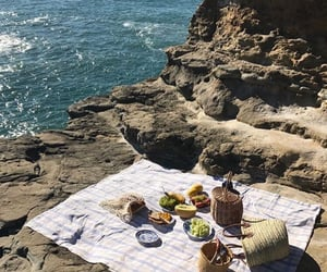 picnic, summer, and beach image