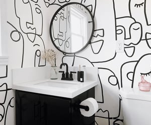 black & white, home decor, and interior design image
