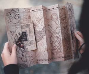 harry potter, map, and marauders map image