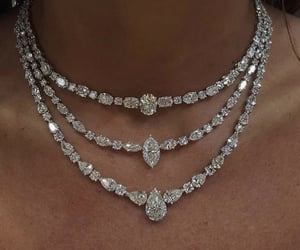 diamond, necklace, and jewelry image