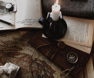 books, aesthetic, and candle image