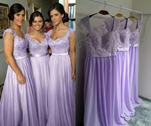 bridesmaid dress, wedding party dresses, and long bridesmaid dress image