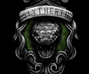 harry potter, slytherin, and green image