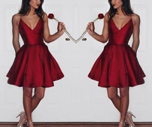 burgundy bridesmaid dress image