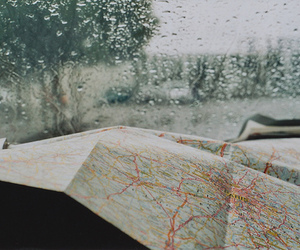 rain and map image