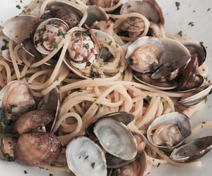 food, seafood, and pasta image