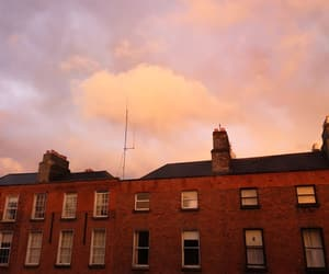 bricks, buildings, and clouds image