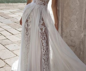 boho, bridal, and dress image