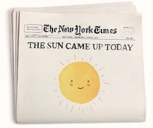 good news, happy, and newspaper image