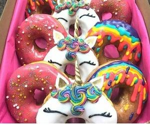 unicorn, donuts, and dessert image