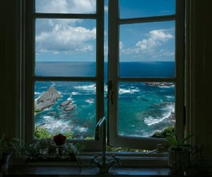 sea, window, and aesthetic image
