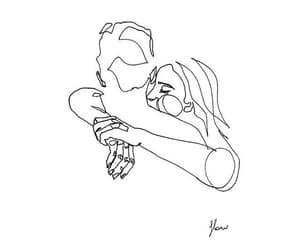 art, girl, and love yourself image