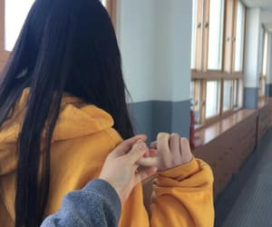 girl, couple, and hands image
