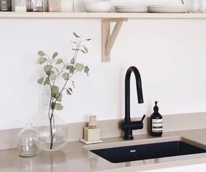 kitchen, minimalism, and minimalist image
