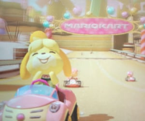 aesthetic, animal crossing, and mario kart image