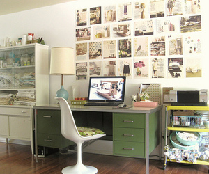 adorable, desk, and room image