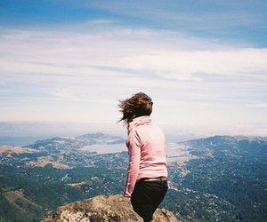 girl, mountains, and photography image
