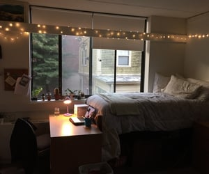 aesthetic, dorm room, and college image
