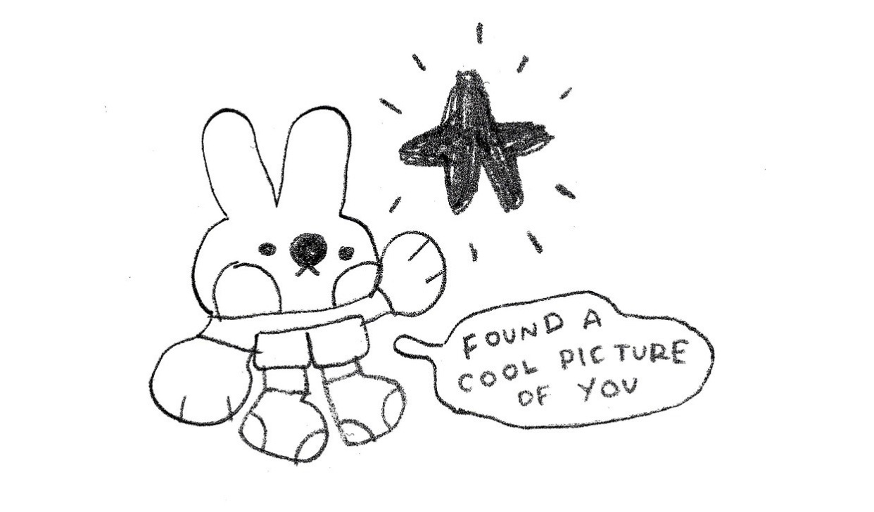 doodle, bunny, and cute image