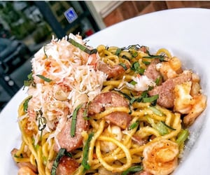 delicious, pasta, and seafood image