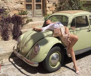 car, green, and fashion image