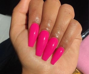 nails, pink, and claws image