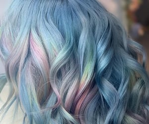 aesthetic, blue hair, and fairy image