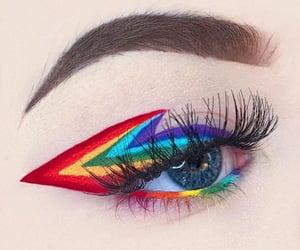 eye, makeup, and pride image