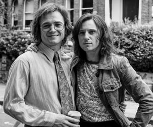 best friends, black and white, and elton john image