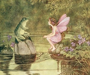 fairy, frog, and illustration image